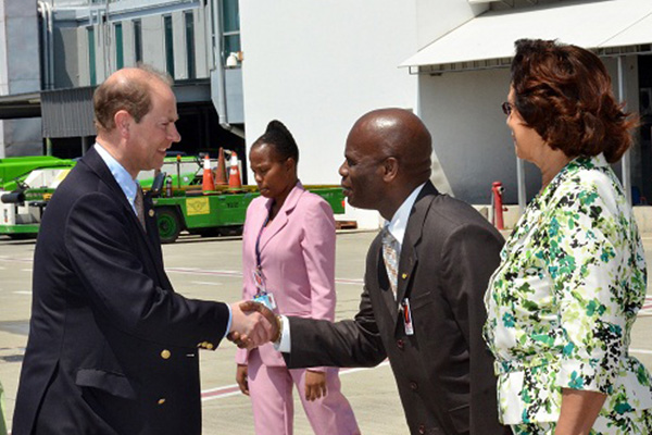 Prince Edward and Countess in Jamaica for working visit