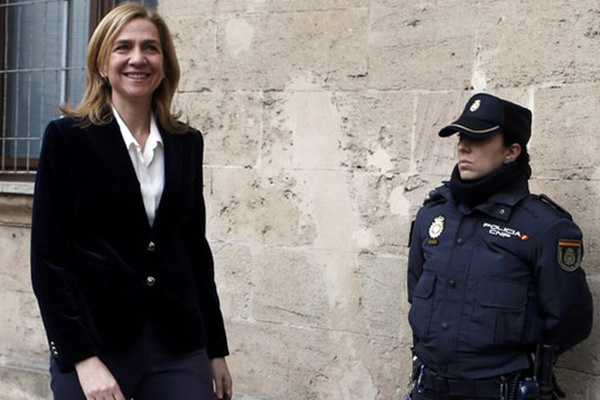 Spain's Princess Cristina in court over corruption case