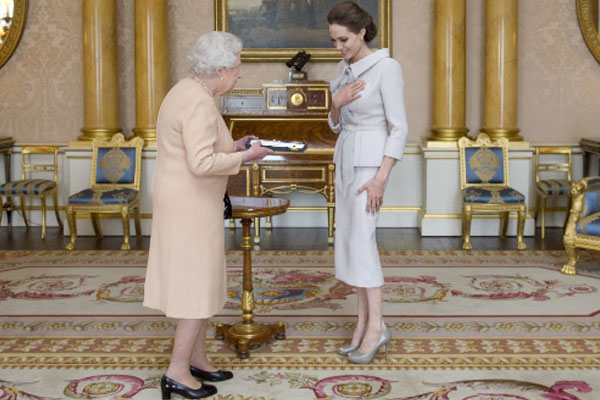 British queen makes actress Angelina Jolie a dame