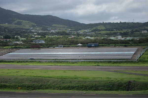"""Welcome to SKB,"" on solar farm at St. Kitts' Robert L. Bradshaw Airport gets international coverage"