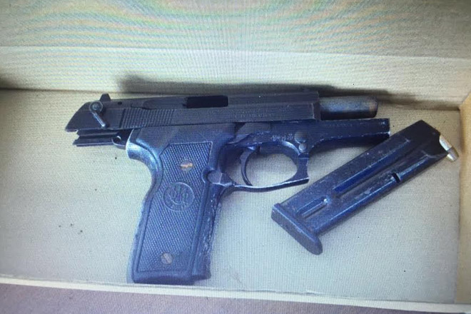 Police confiscate illegal gun and ammo