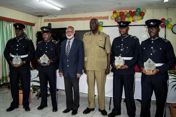 Seven Police Officers Honoured for 20 years of service