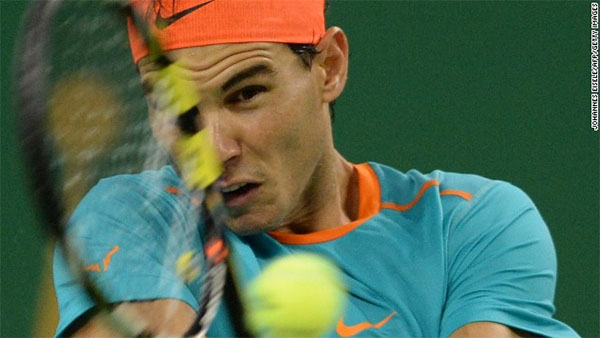 Rafael Nadal plays through the pain barrier despite appendicitis scare