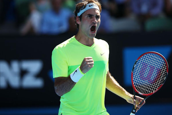 Federer stung into action
