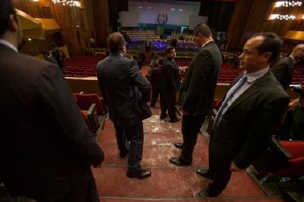 Guatemala's vice president hit in face with flour