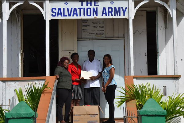 Inland Revenue Department donates food items to Salvation Army