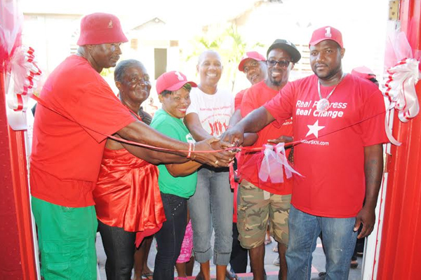 Hon Liburd opens official campaign office