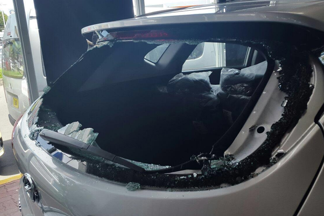 Car windows smashed at Horsfords