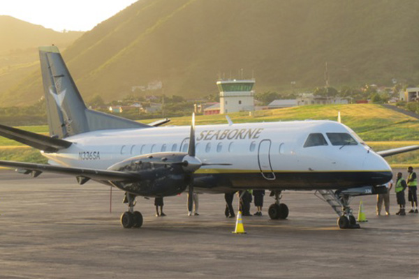 Seaborne Airlines makes first scheduled flight to St. Kitts' Robert Bradshaw Airport