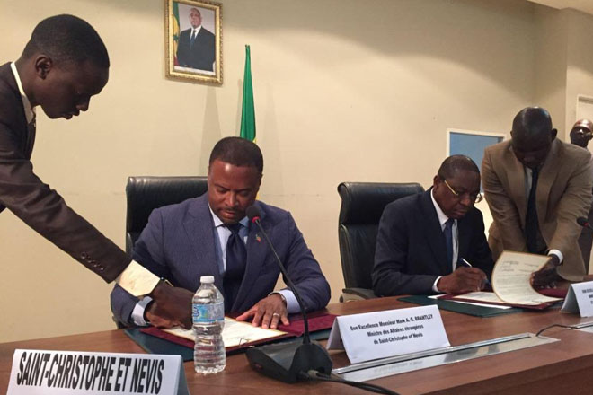 St Kitts and Nevis and Senegal bolster bilateral relations by establishing diplomatic relations