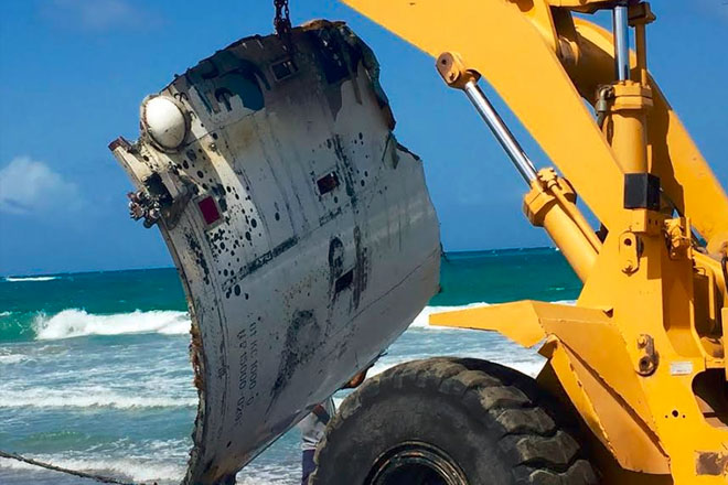 Space debris washes up