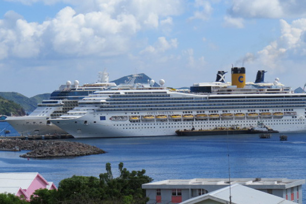 Three ships scheduled Wednesday, over 11,000 cruise passengers visited so far this week