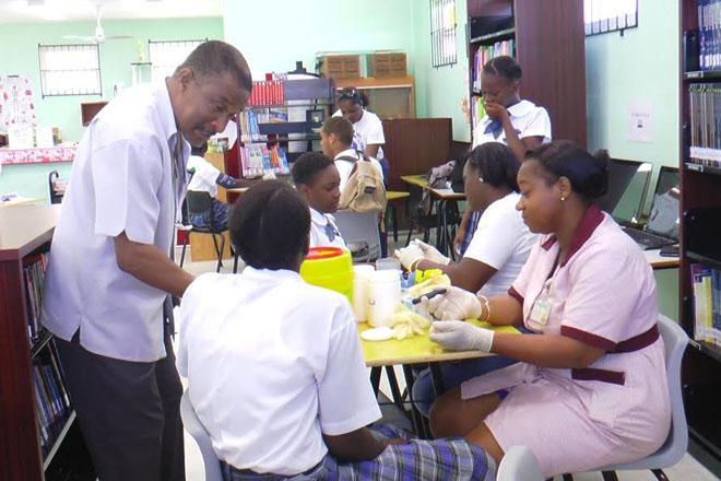 Diabetes Screening at Saddlers Secondary School