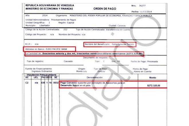 Payment from Venezuela through St Vincent bank raises questions