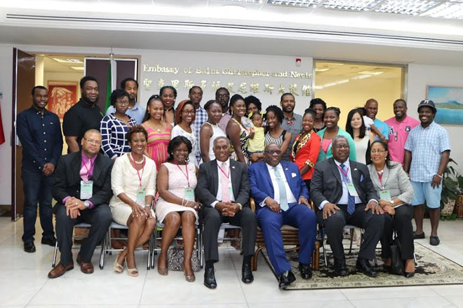 St. Kitts and Nevis' students studying in ROC (Taiwan) encouraged to contribute to their country's development