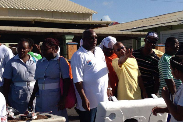 Unity visits the Public Market and JNF Hospital
