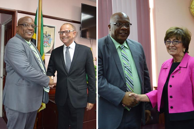Ambassadors from the USA and the Netherlands pay courtesy call on Prime Minister Harris