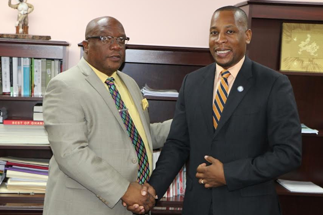 Newly Governor Of ECCB Pays Courtesy Call On Prime Minister Harris
