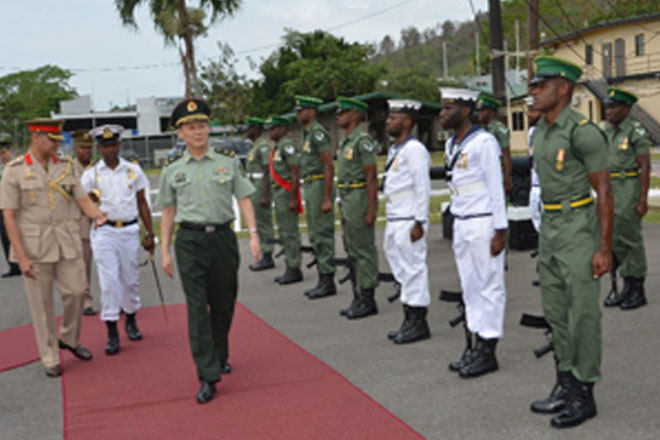 Chinese military delegation visits T&T