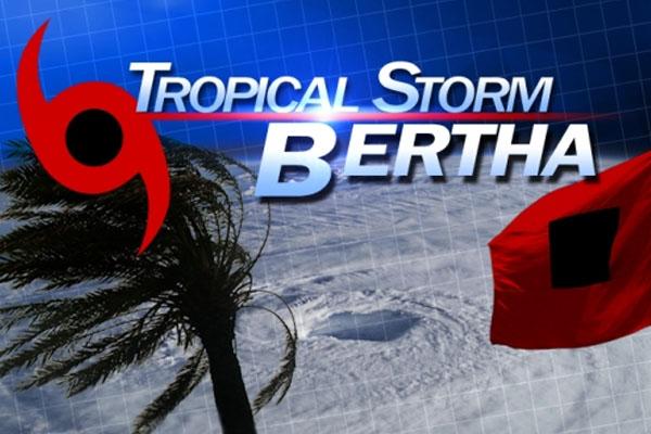Tropical Storm Bertha churning through the Caribbean