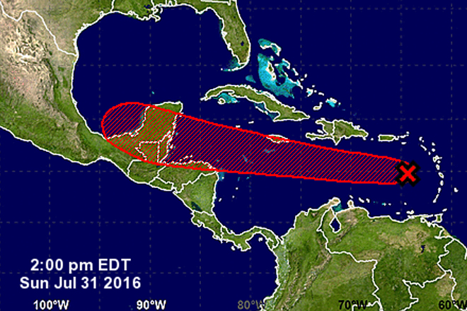 Strong tropical wave prompts flash flood warnings