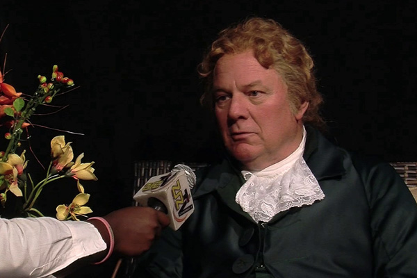 Alexander Hamilton Impersonator visits St. Kitts-Nevis, Talks to Students