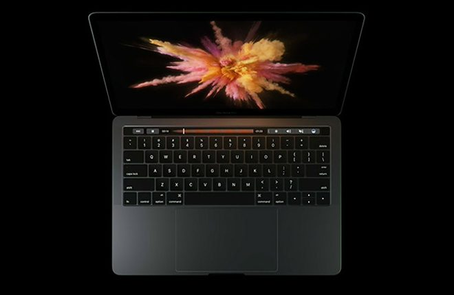Apple unveils MacBook Pro with touch bar on top of keyboard