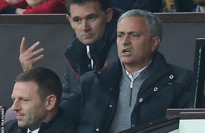 Jose Mourinho: Manchester United boss given touchline ban and fine
