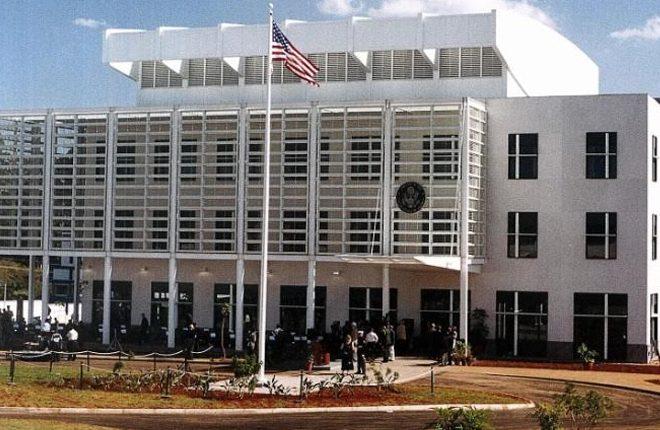 Man shot dead outside US Embassy in Kenya after knife attack