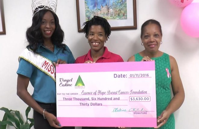 National Carnival Queen donates cheque to Essence of Hope