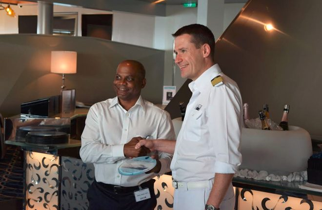 Captain Jens Troier of Mein Schiff 4 praises St. Kitts as top cruise destination
