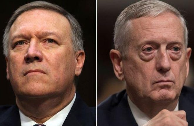Trump top nominees Pompeo and Mattis warn of Russia threat