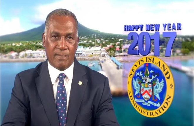 Premier of Nevis extends New Year Greetings to the Federation of St. Kitts Nevis for the year 2017