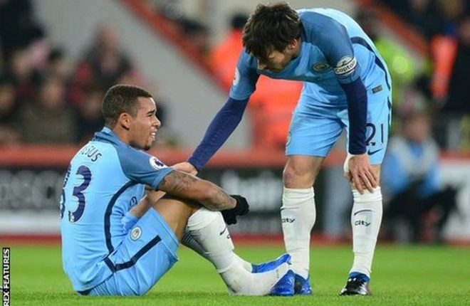 Gabriel Jesus: Manchester City forward has broken metatarsal