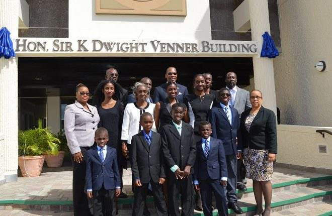 Sir K. Dwight Venner immortalized in the history of ECCB with naming of building in his honour