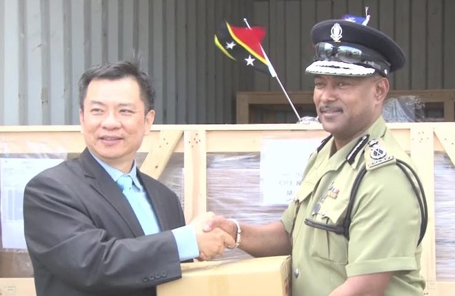 Car parts donated to police by Republic of China Taiwan