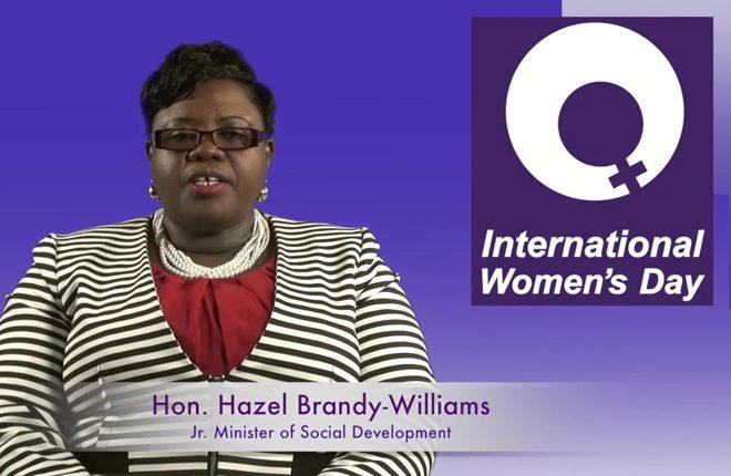Nevis' Junior Minister of Gender Affairs acknowledges International Women's Day 2017