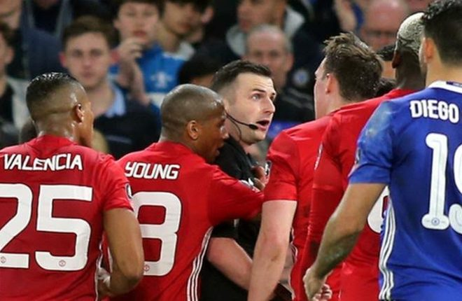 Manchester United charged with failing to control players against Chelsea