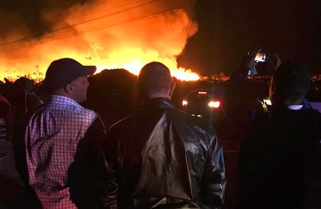 Evacuation Ordered As Landfill in The Bahamas Burns
