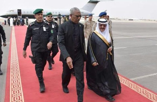 Guyana president attends Arab-American Islamic Summit
