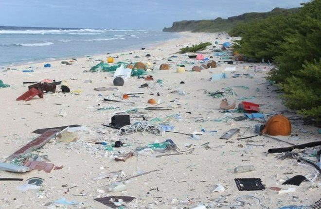 Remote island has 'world's worst' plastic rubbish density