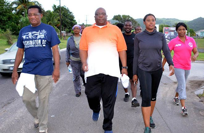 PM Harris continues to promote healthy lifestyles through his monthly health walks