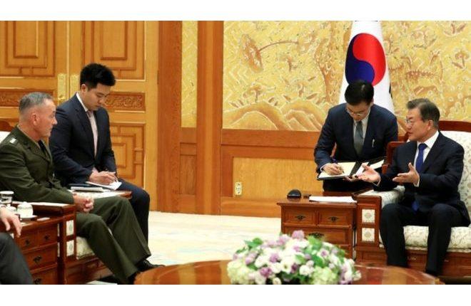 North Korea crisis: South's leader in plea to avoid war