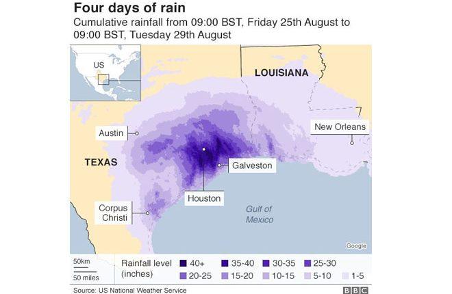 Houston flood: Addicks dam begins overspilling