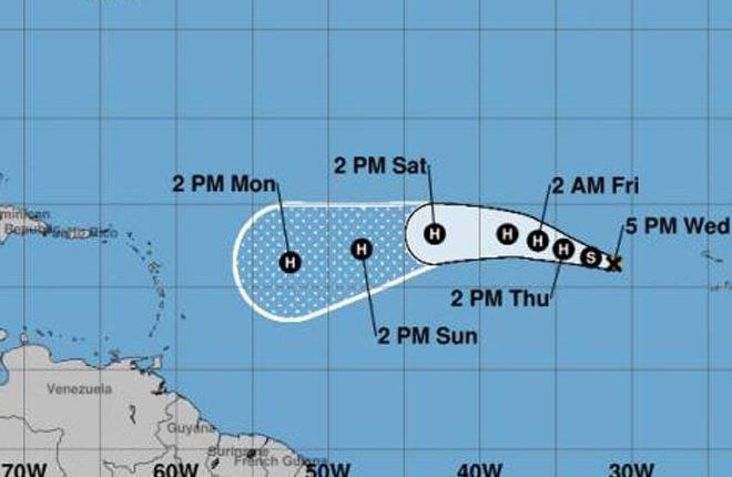 Tropical Storm Irma heads towards the Caribbean