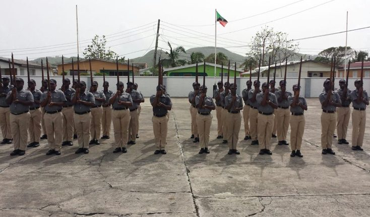 Police recruits resume training after assisting the police force with operation mid sweep