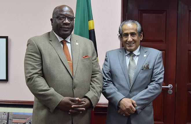 Ambassador Al-Sahouti pays courtesy call on Prime Minister Harris