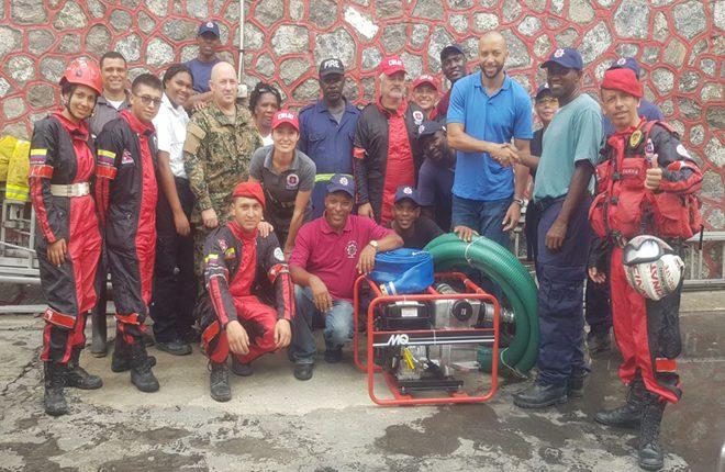 Dominica fire brigade receives fire pump compliments CIBC FirstCaribbean