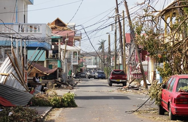 Portsmouth community in Dominica starts rebuilding