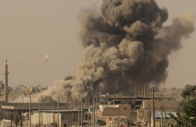 Syria war: US strikes on IS headquarters 'kills 150 militants'